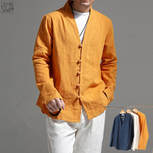 春秋季pi国风民族风tp麻休闲长袖上衣茶禅服衬衫外套