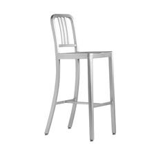 海军吧pi金属酒吧椅lu铝制欧式高脚凳现代简约前台高凳