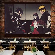 日式动pi火影忍者背zans挂布背景墙床头卧室墙面墙壁挂毯