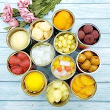 糖水黄pj葡萄橘子草qw菠萝梨水果罐头拼箱12罐混合装多省包邮