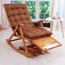 躺椅阳pj家用休闲椅nd休午睡椅摇椅逍遥椅老的靠椅单的竹椅子