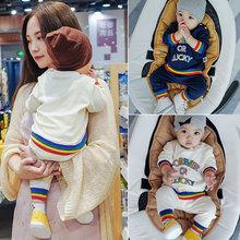 婴儿套装春秋运动外出pj7装女3-yj个月男宝宝两件套一岁春装衣服