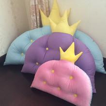 韩式皇pl大靠背垫可nt室纯棉靠枕公主深浅色宝宝软包