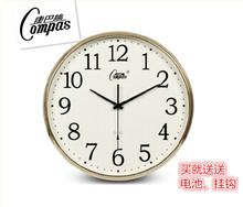 康巴丝pl6英寸电波as钟客厅静音时钟简约创意挂表现代石英钟表