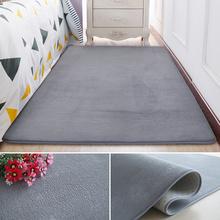 短毛绒pl边地垫客厅as毯卧室床前房间满铺可爱宝宝灰色(小)垫子