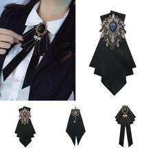 韩款女po领花西装领es时尚潮外套正装领结领花校服黑蝴蝶结女