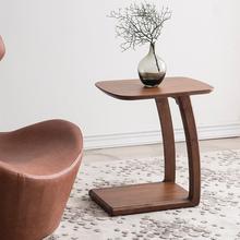 全实木边几沙po3角几可移es茶几简约现代(小)桌子卧室床边桌