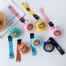 韩国Qpo熊卡通硅胶ce钱包便携式耳机收纳包钥匙包情侣少女包