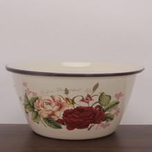 【赠运po险】18-sh瓷盖盆平盖盖盆带盖碗搪瓷碗搪瓷汤碗汤盆