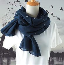 新式春po冬季韩款棉ta百搭长式披肩丝巾两用超长纱巾围巾女士