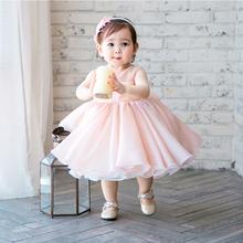 宝宝礼po公主裙女童s6周岁生日婚纱裙主持的演出服晚礼服春夏