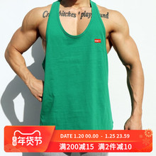 肌肉队poINS运动te身背心男兄弟夏季宽松无袖T恤跑步训练衣服