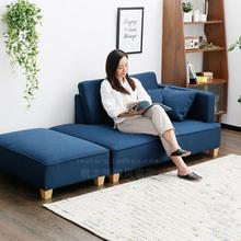 北欧创pp设计(小)户型nj代多功能转角沙发贵妃懒的躺椅沙发组合