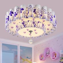现代简ppled卧室nj灯温馨圆形水晶灯客厅浪漫婚房灯具灯饰
