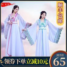 中国风pp曲裾传统古nj古风舞蹈表演服毕业班服学生演出服