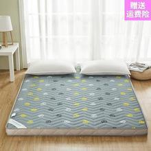 地板床pr软型双的床ve卧室家用铺子双软垫的家折叠双层床