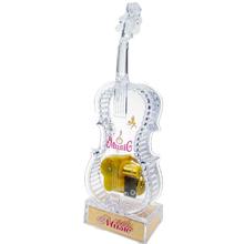 新款水晶透明吉他音乐盒带闪灯光八pr13盒创意di件模型包邮