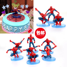 带底座pr蜘蛛侠复仇ch宝宝周岁生日节庆蛋糕装饰烘焙材料包邮