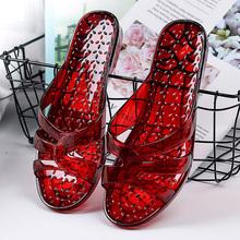 夏季新款拖鞋pr3水晶塑料sc鞋室内居家防滑防臭洗澡一字拖女