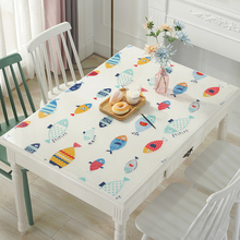 软玻璃pr色PVC水ha防水防油防烫免洗金色餐桌垫水晶款长方形