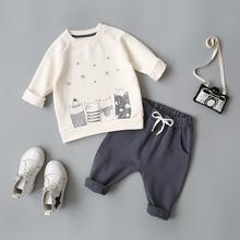乐努比(小)童装男婴儿春秋pr8套装0-je婴幼儿男宝宝春装洋气衣服2