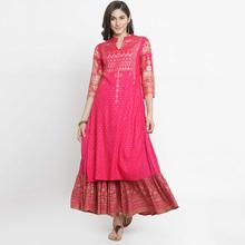 野的(小)pr印度女装玫nt纯棉传统民族风七分袖服饰上衣2019新式