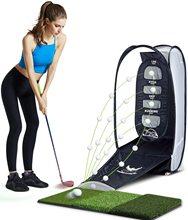 高尔夫挥杆练习器切杆练pr8网室内室st品可折叠配打击垫送球