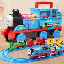 大号托pr斯(小)火车轨ng玩具电动宝宝男孩汽车合金模型益智3岁6