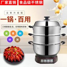 电热锅pr04不锈钢ng蒸笼(小)型电煮锅多功能电蒸锅2-4的