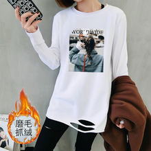 [psilo]加绒保暖打底衫女t恤长袖