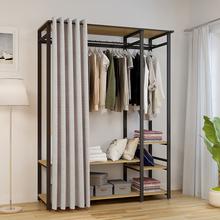 衣柜铁pt家用卧室北rl开放式时尚创意个性组装置物架落地衣橱