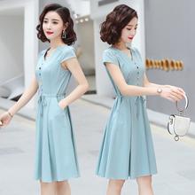 森女系pu020新式xi腰显瘦气质女神范衣服(小)个子裙子