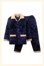 休闲老pu的中老年睡xi冬男男装长袖男式棉袄套装加厚珊瑚绒秋