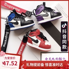 创意apu1鞋子充电xi个性AJ11蓝球鞋可爱礼物男女炫酷