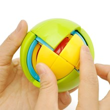 最强大pu益智玩具多xi因思维(小)学生宝宝智力球迷宫高级魔方的
