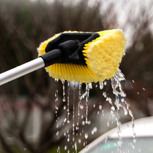 伊司达pu米洗车刷刷rt车工具泡沫通水软毛刷家用汽车套装冲车