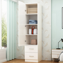 简约现pu单门衣柜儿rt衣柜简易实木衣橱收纳柜 阳台柜 储物柜