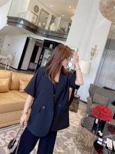 TAOpuAO微胖定in短袖(小)西装女薄式垫肩垂感气质休闲外套