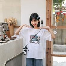 忠犬(小)pu梨形自制-hi漫T恤-2020春夏宽松百搭日系学生女半袖