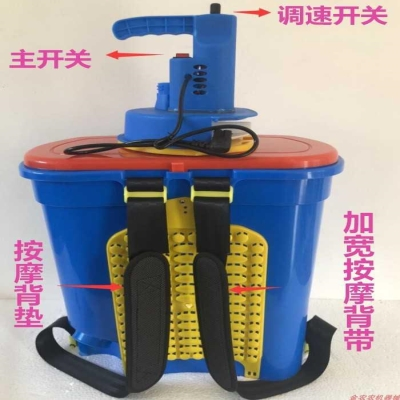机器机pu农用肥(小)麦hi施肥电动农用撒追肥多功能水稻盘
