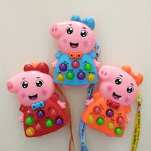 (小)猪佩pu益智佩奇早hi海草猪玩具佩佩猪掌上打地鼠玩具狗狗