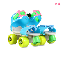 滑冰pu滑板溜冰鞋hi排轮滑冰鞋宝宝男女鞋全套装