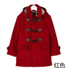 202pu童装新式外si童秋冬呢子大衣男童中长式加厚羊毛呢上衣