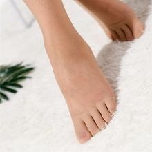 日单!pu指袜分趾短si短丝袜 夏季超薄式防勾丝女士五指丝袜女