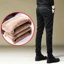 长裤子pu裤秋冬季2er新式潮加绒裤男士休闲裤男宽松加厚保暖外穿