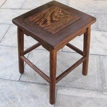 鸡翅木pu凳实木(小)凳kj花架换鞋凳红木凳独凳家用仿古凳子