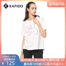 RAPpuDO 韩国bu夏季女士休闲主题印花运动短袖T恤女