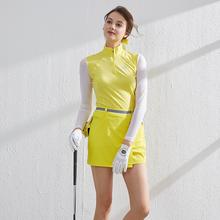 BG新pu高尔夫女装ei装女上衣冰丝长袖短裙子套装Golf运动衣夏