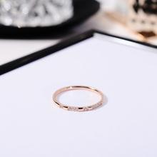 时尚极pu超细微镶钻ng指女日韩潮的网红食指环(小)指子饰品