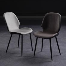 餐椅北pu家用现代简ma椅子靠背轻奢洽谈化妆椅餐厅凳子